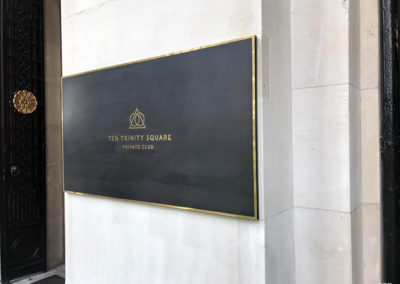 Bronze Plaque for Tent Trinity Place