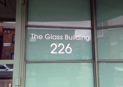 Vinyl Signage for The Glass Building