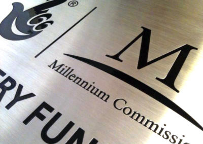 Stainless Steel Plaque for The Millenium Comission