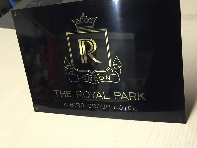 Brass Plaque for The Royal Park Hotel