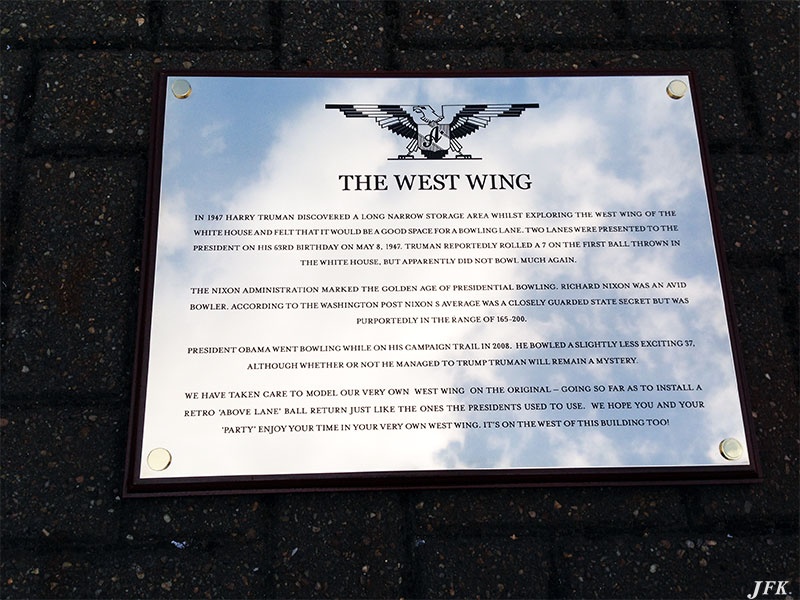 Stainless Steel Plaque for The Westwing