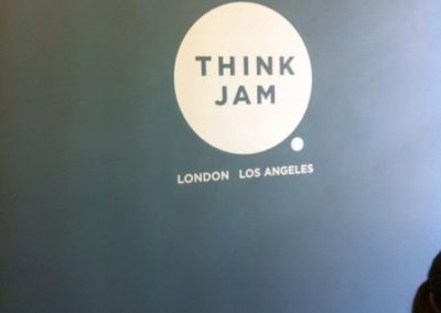Vinyl Signage for Think Jam