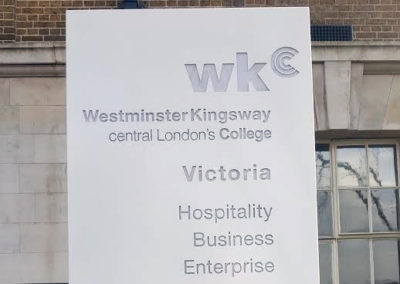 Totems & Monoliths for Kingsway College London