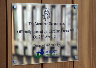 Stainless Steel Plaque for Uk Energy Partners