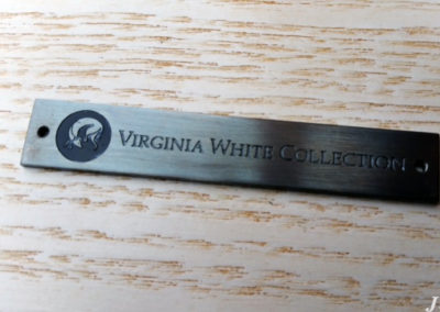 Brass Plaque for Virginia White Collection