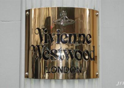 Brass Plaque for Vivien Westwood