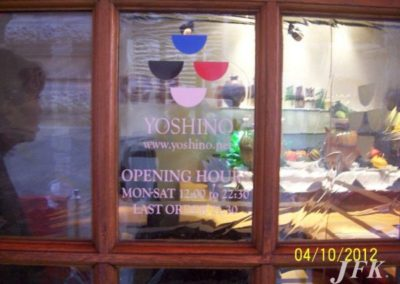 Vinyl Signage for Yoshino