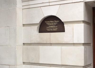 Bronze Plaque for Victoria Palace Theatre