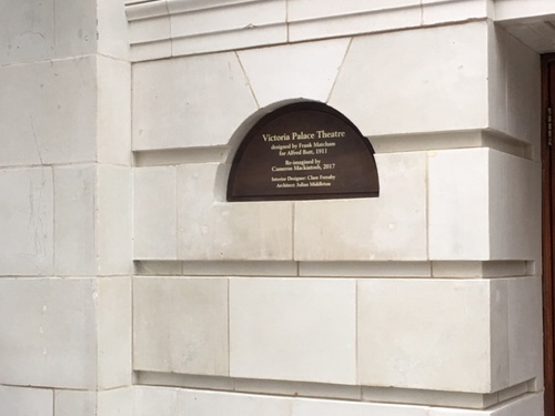 Bronze Plaque for Victoria Palace Theatre