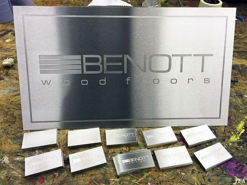 Brushed Stainless Steel Plaques & Signs