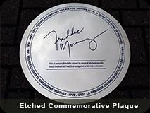 Etched Commemorative Plaque