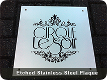 Etched Stainless Steel Plaque