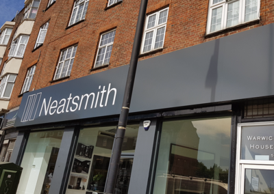 Fascia Signage for Neatsmith Finchley Road
