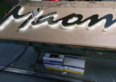 Gold Steel Lettering