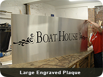 Large Engraved Plaque