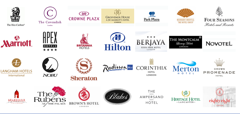 Hotels we work with
