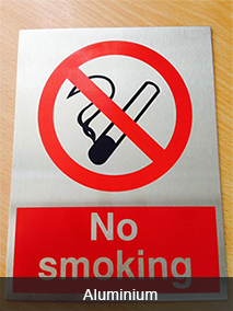 No Smoking Aluminium
