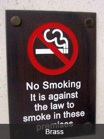 No Smoking Brass