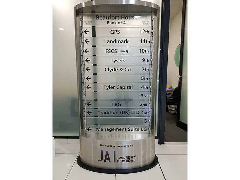 Stainless Steel Monolith Directory Sign