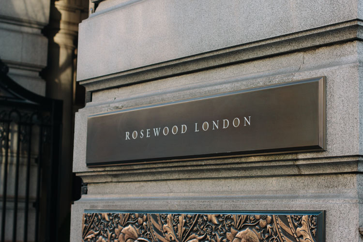 Bronze Cast Sign for Rosewood Hotel