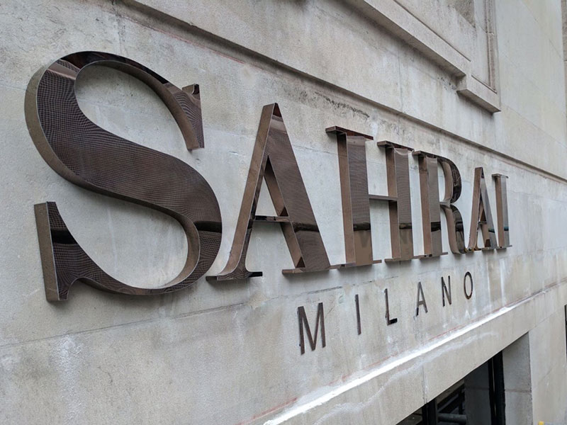 Bronze Rimex Letters – SAHRAI Milano