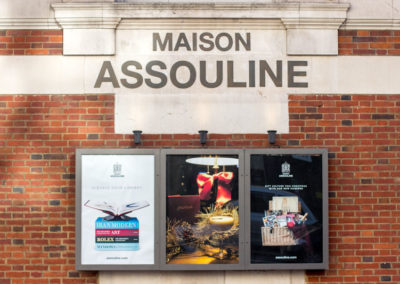 Projecting Signs for Maison Assouline