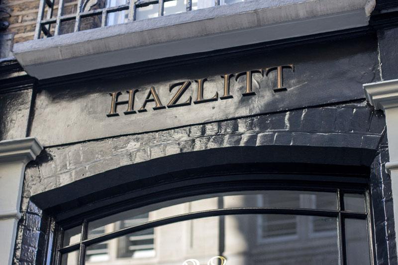 Fascia signage for Hazlitt's