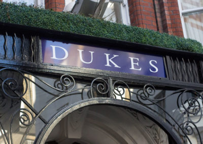 Fascia signage for Duke's Hotel