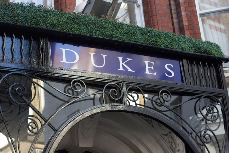 Fascia signage for Duke's Hotel