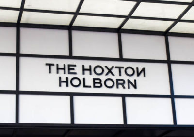 Fascia Lightbox Signage for The Hoxton Holborn