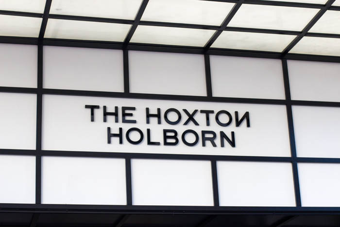 Fascia Lightbox Signage for The Hoxton Holborn