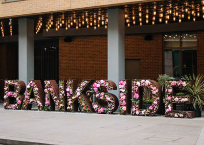 Experiential fascia signage for The Hilton Bankside