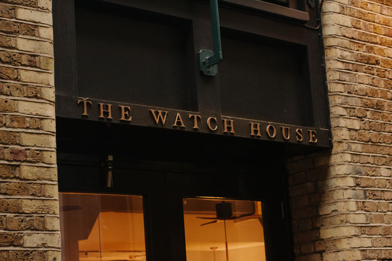 Creating the fascia signage for The Watch House