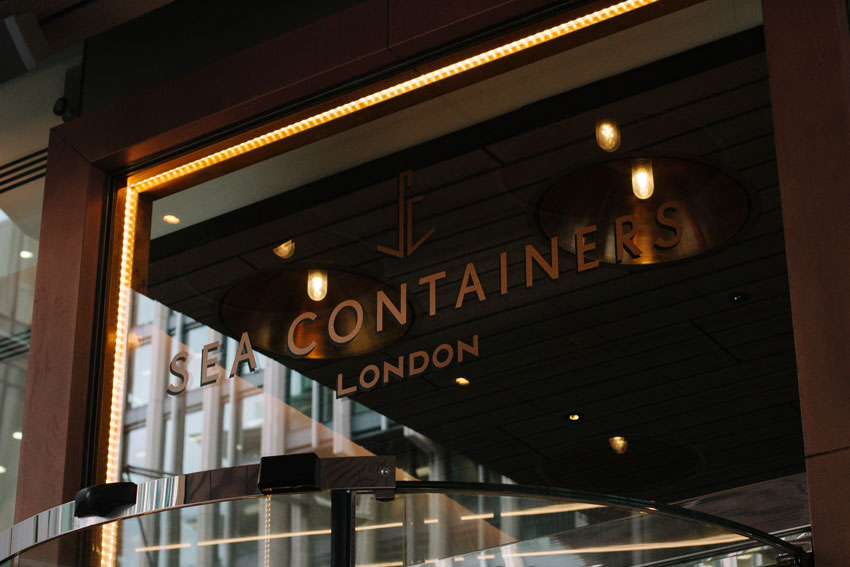 Creating a suite of bronze vinyl signage for Sea Containers