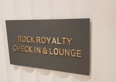 Wayfinding signage for the Hard Rock Cafe Hotel