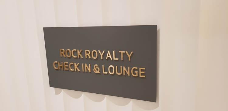 Wayfinding signage for the Hard Rock Cafe Hotel