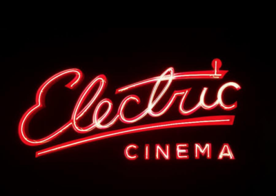 Neon signage for the Electric Cinema