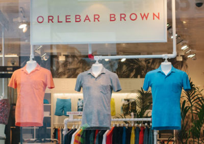 Fascia signage for Orlebar Brown