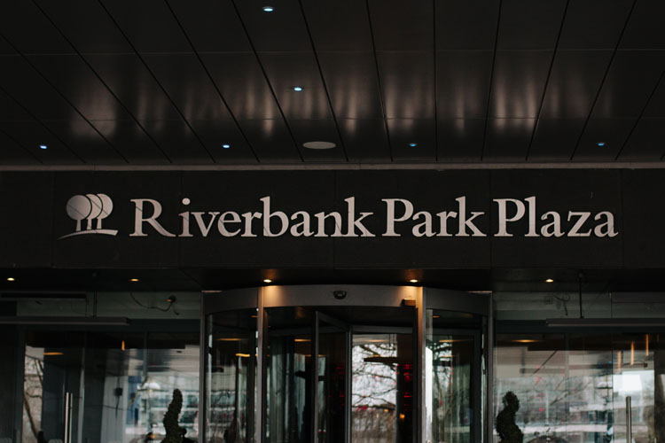 Fascia Signage for Plaza on the River