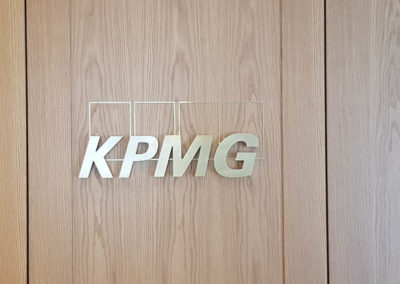 Interior signage for KPMG