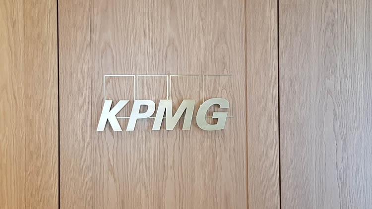 Interior signage for KPMG