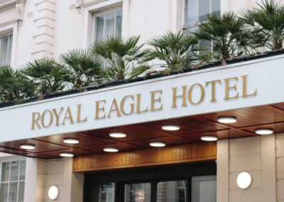 Fascia signage for the Royal Eagle Hotel