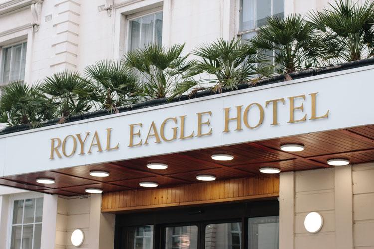 Fascia signage for the Royal Eagle Hotel