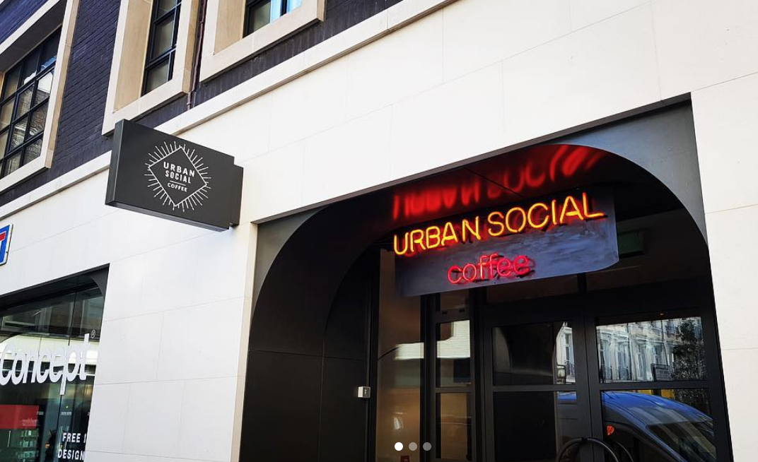 Neon signage for Urban Social