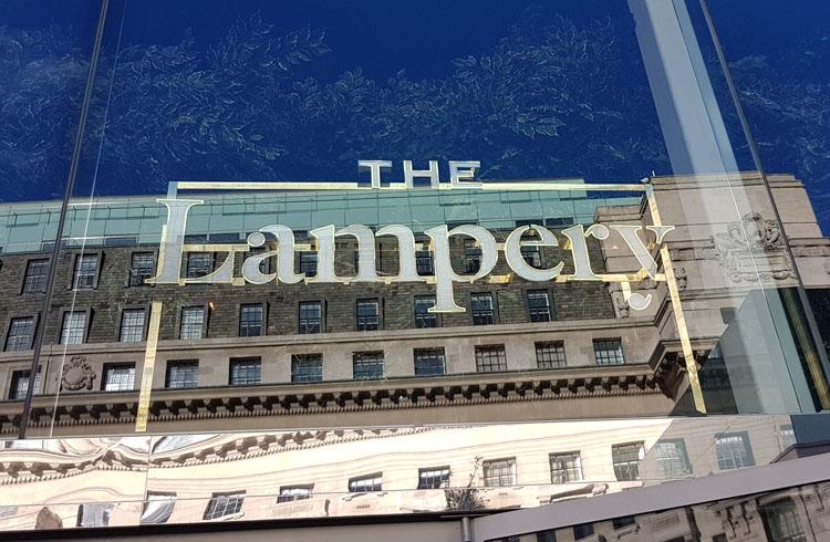 Illuminated fascia signage for The Lampery