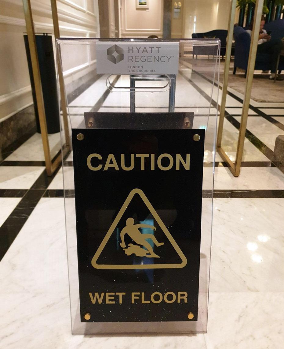 Bespoke Hotel Acrylic Wet Floor Sign
