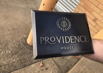 10mm Bronzed Brass Chemically Etched Plaque made for Providence House