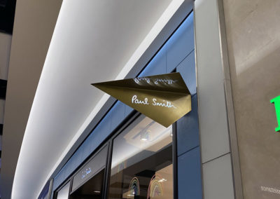 Polished Brass Fabricated Projecting Sign – Paul Smith Heathrow