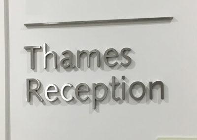 Wayfinding signage for the Shard Hospital