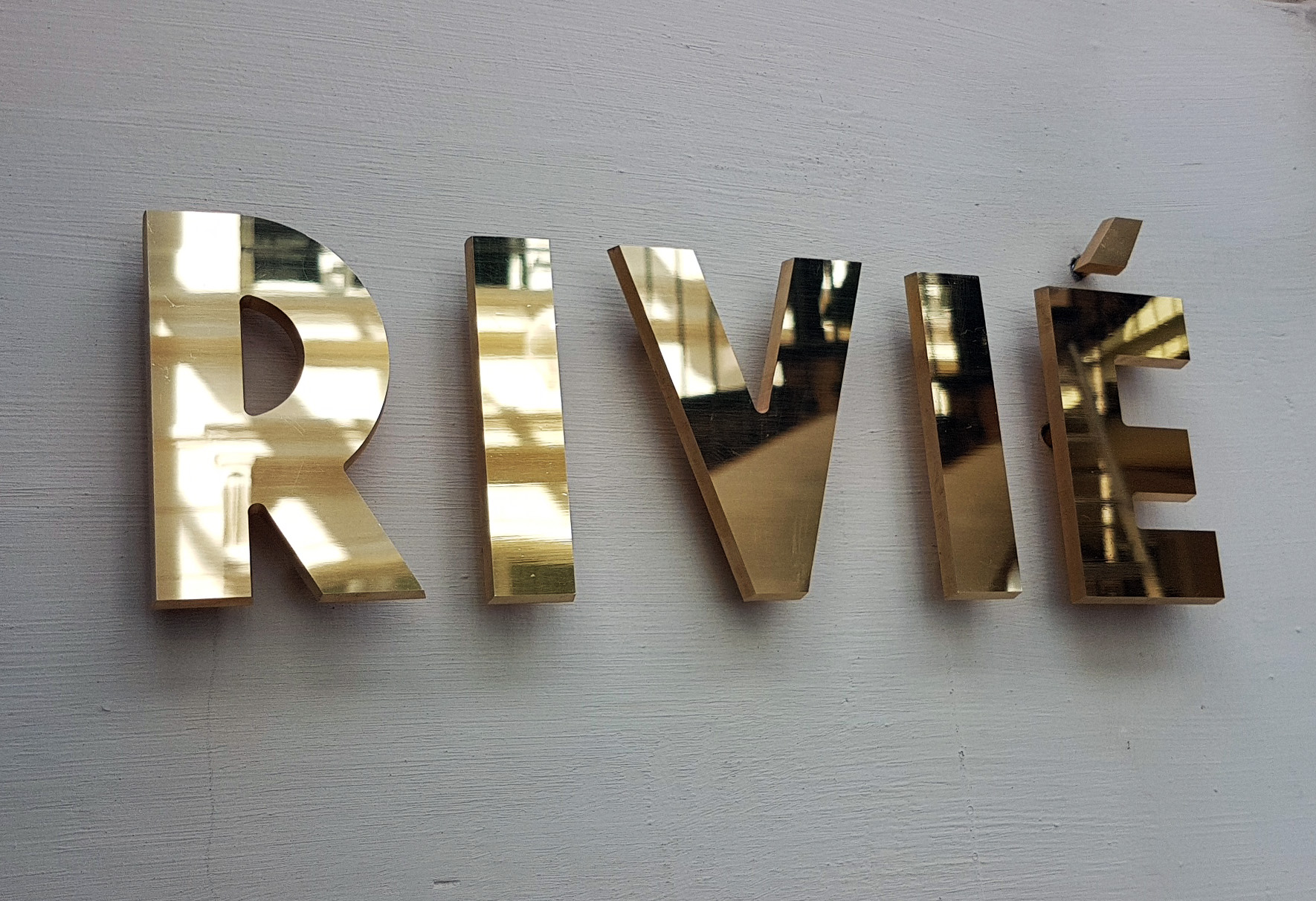 Polished Brass Letters
